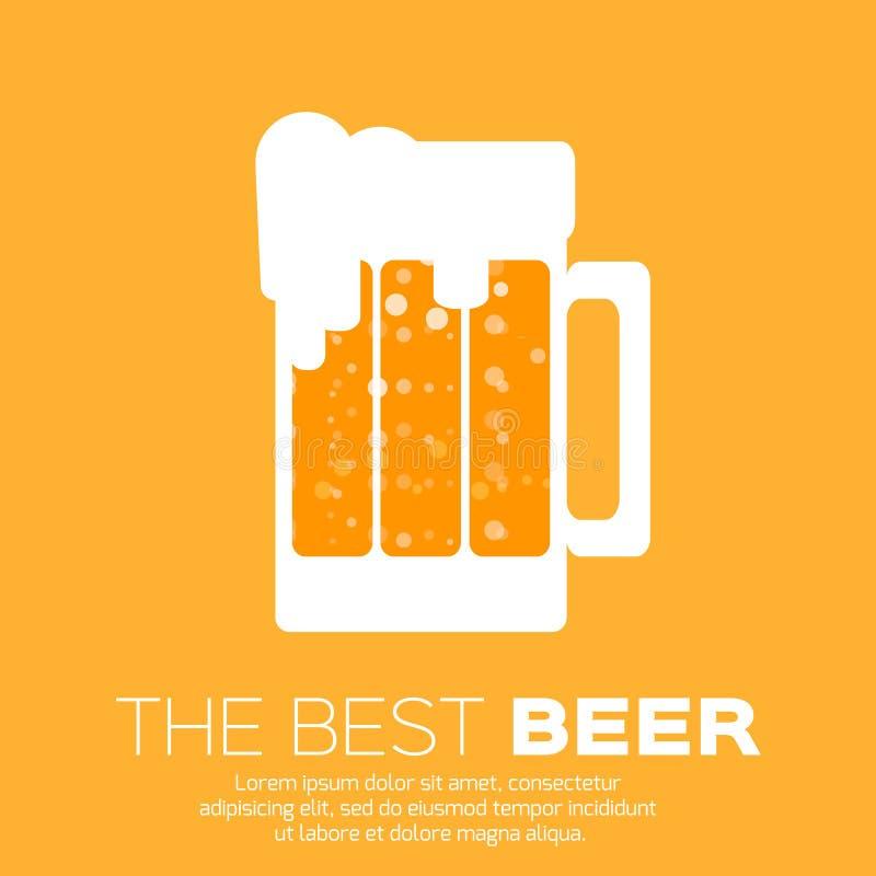 啤酒杯 最佳的啤酒 库存例证