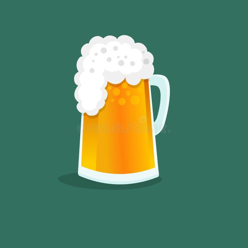 啤酒杯 皇族释放例证