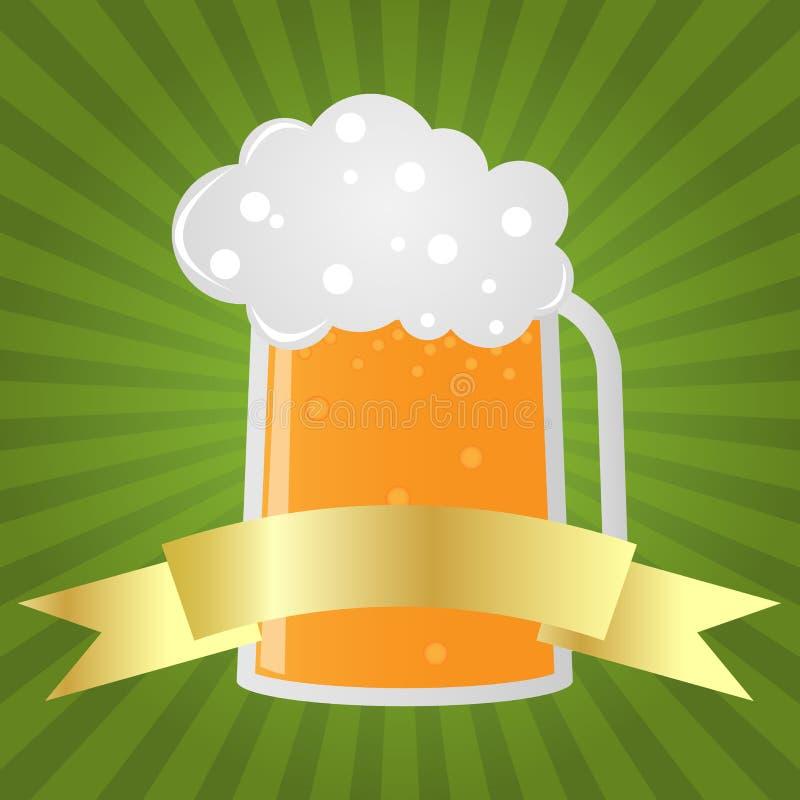 啤酒杯 库存例证