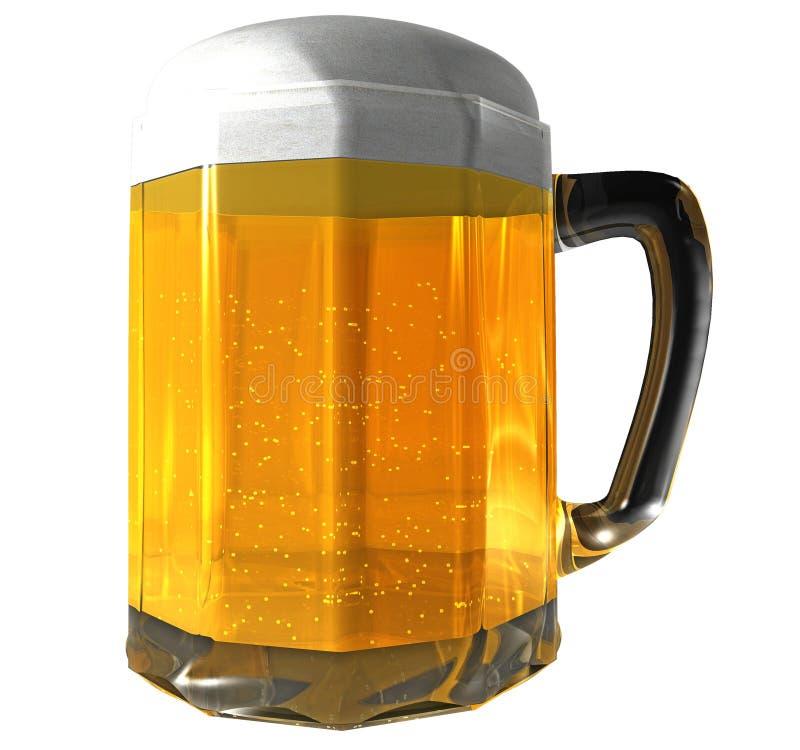 啤酒查出的杯子 库存例证
