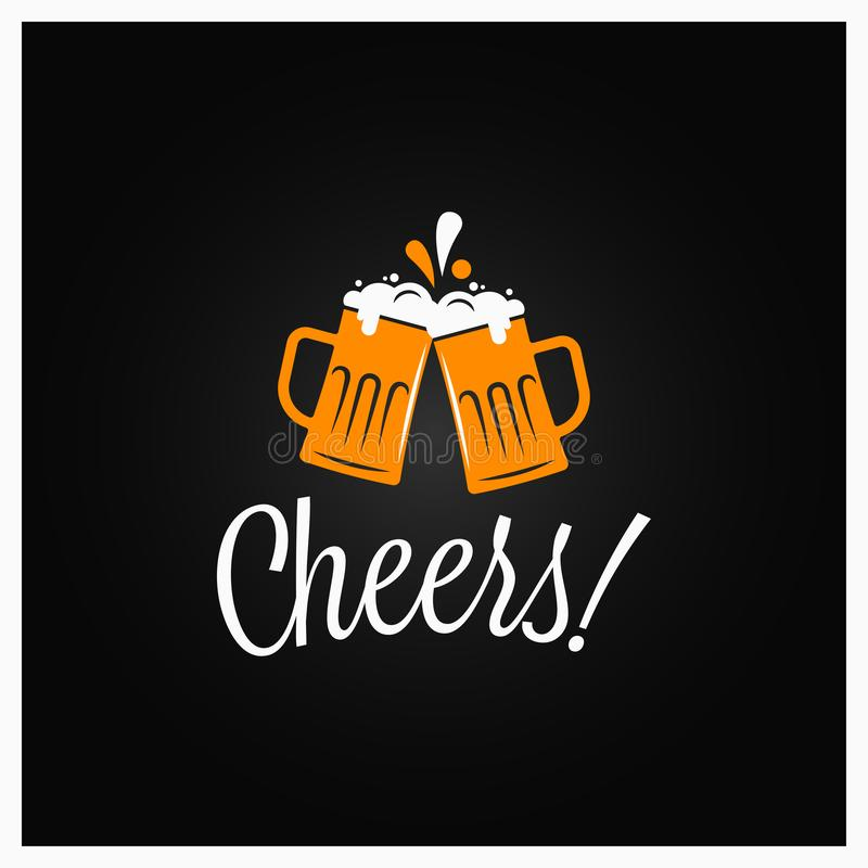 啤酒欢呼横幅 在上写字用啤酒的欢呼 库存例证