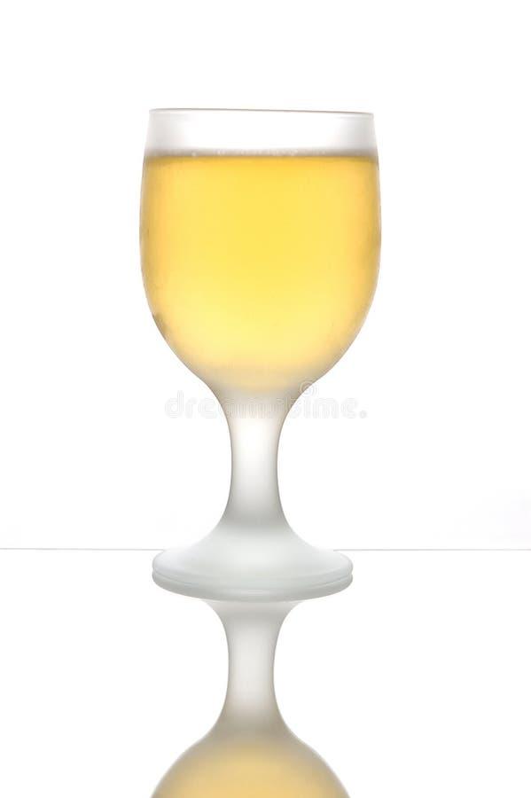 啤酒毛玻璃 免版税库存照片