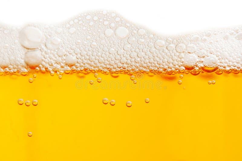 啤酒泡影 免版税库存图片