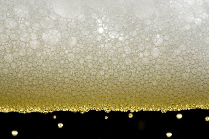 啤酒泡影 免版税库存照片