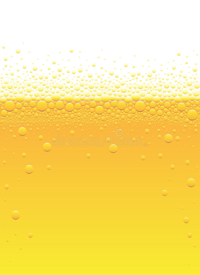 啤酒泡影 皇族释放例证