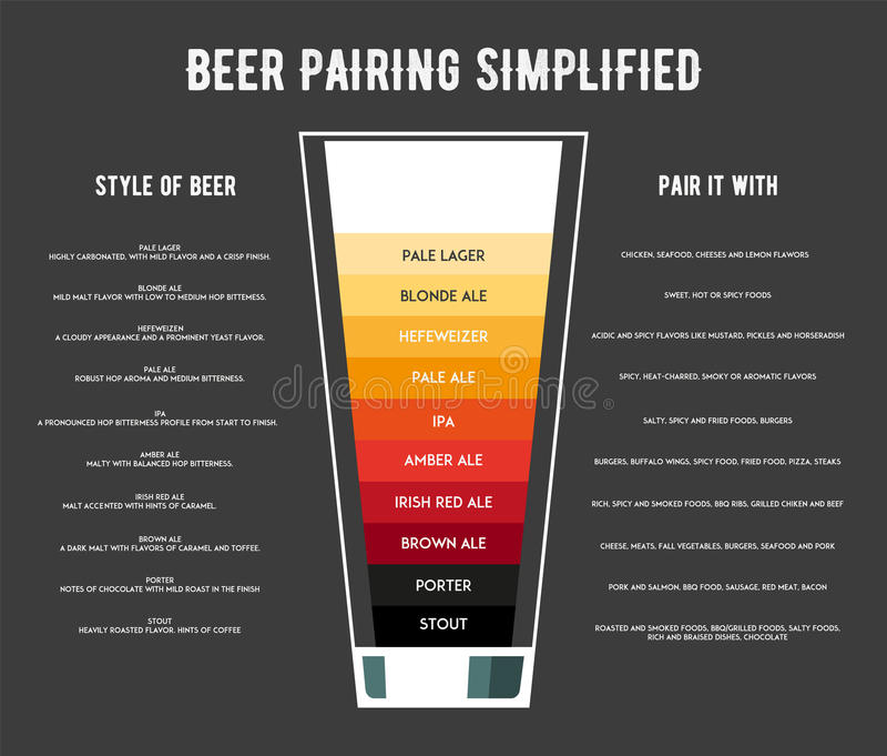 啤酒海报传染媒介例证的不同的类型 向量例证
