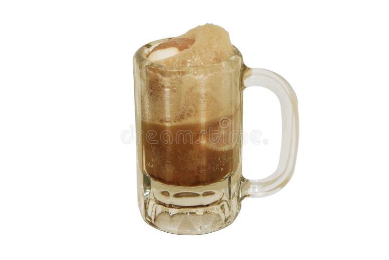 啤酒点心浮动根 免版税库存图片
