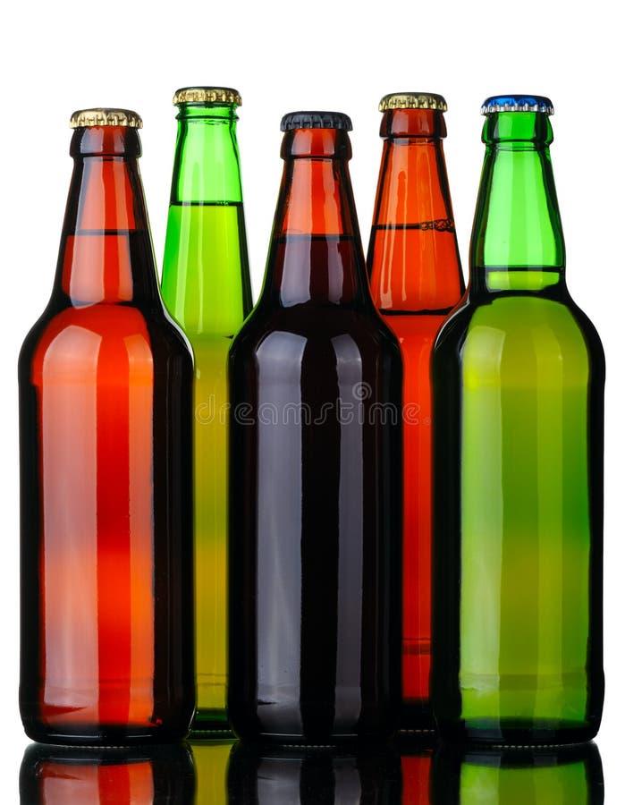 啤酒瓶五 免版税库存照片