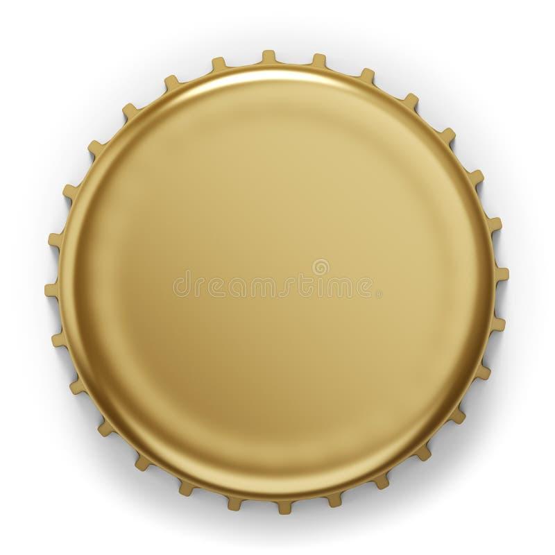 啤酒瓶盖帽 皇族释放例证