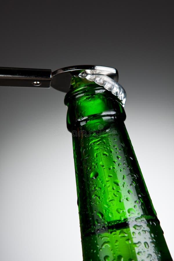 啤酒瓶空缺数目 库存照片