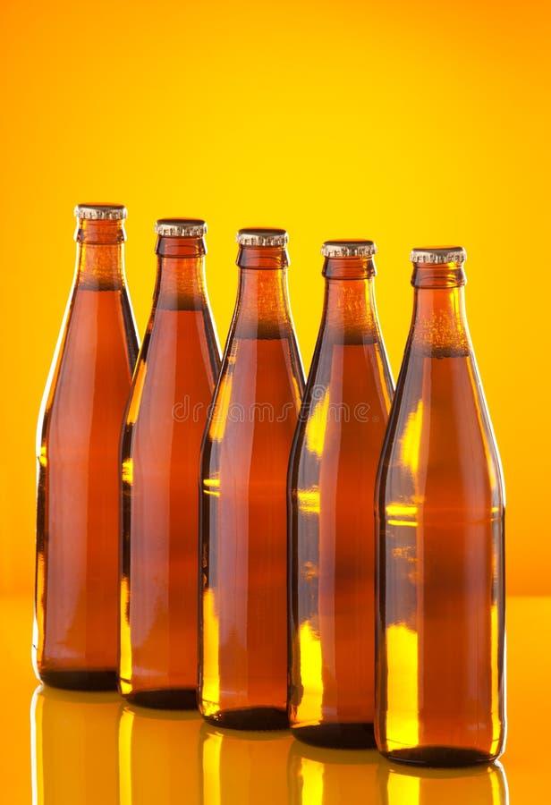 啤酒瓶行 库存照片