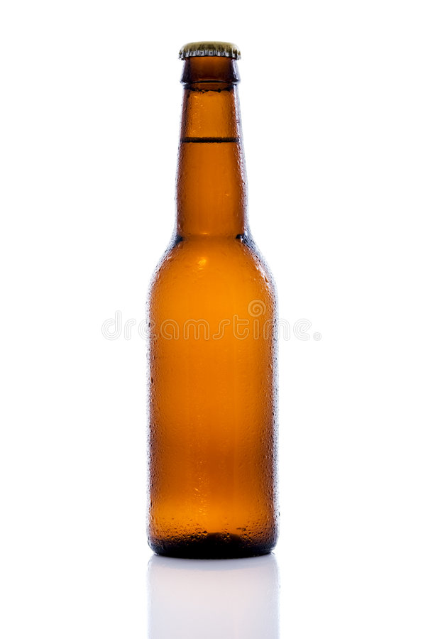 啤酒瓶褐色 库存照片