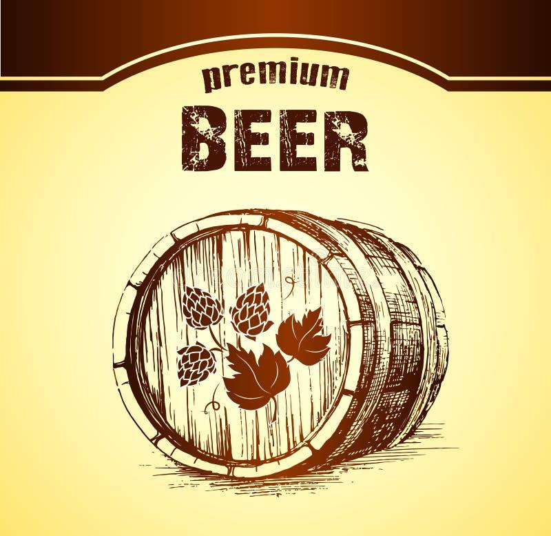 啤酒用蛇麻草 纬向条花 库存例证