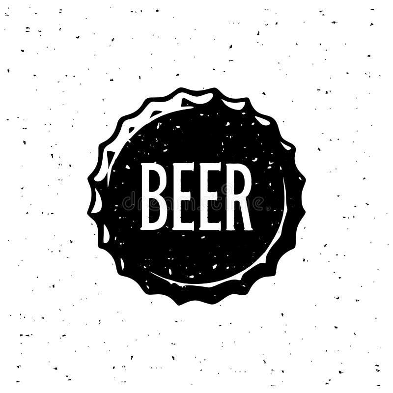 啤酒盖帽白色难看的东西样式 也corel凹道例证向量 向量例证