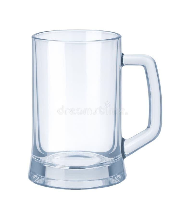 啤酒空的玻璃器皿杯子 库存图片