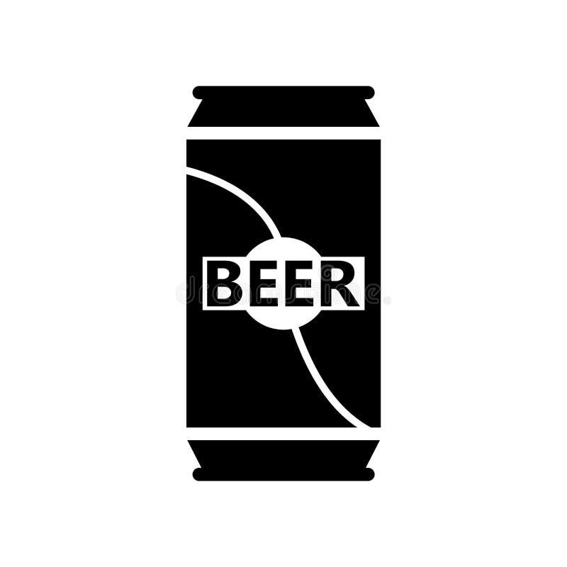 啤酒罐在白色背景隔绝的象传染媒介,啤酒罐签字,啤酒标志 库存例证