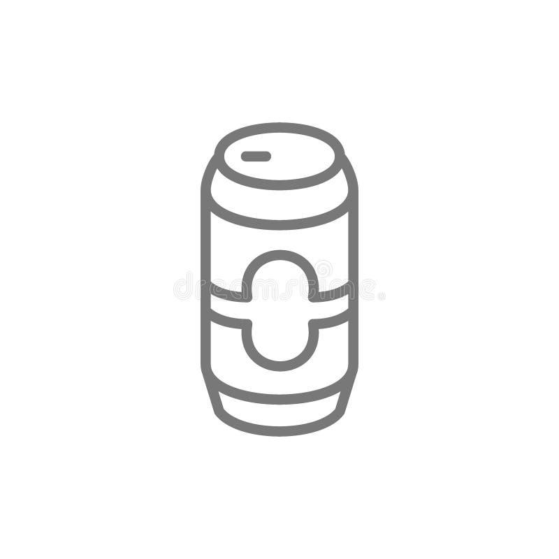 啤酒罐线象 向量例证