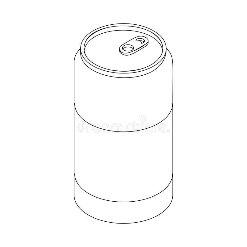 啤酒罐象,等量3d样式 向量例证