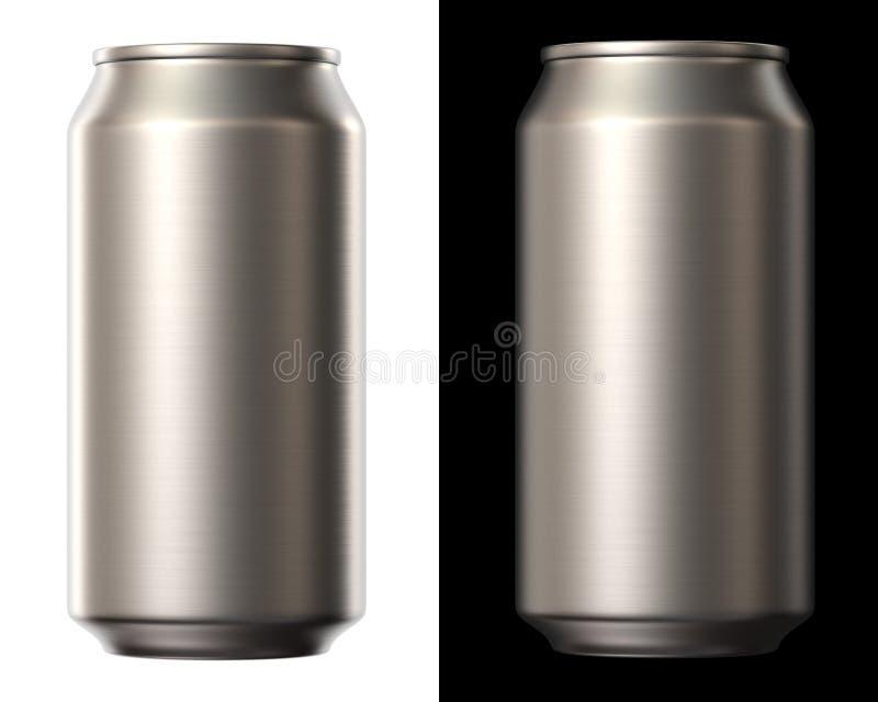 啤酒罐 库存例证