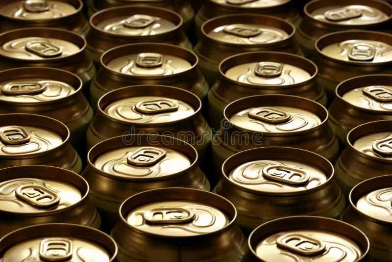 啤酒罐 免版税图库摄影