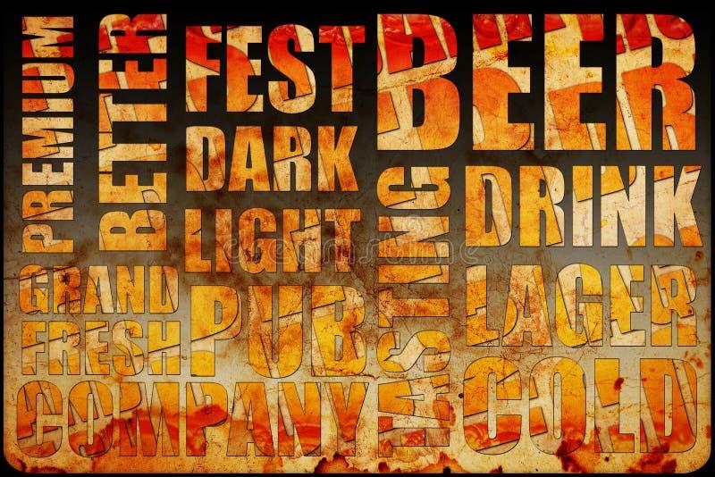 啤酒背景文本 向量例证