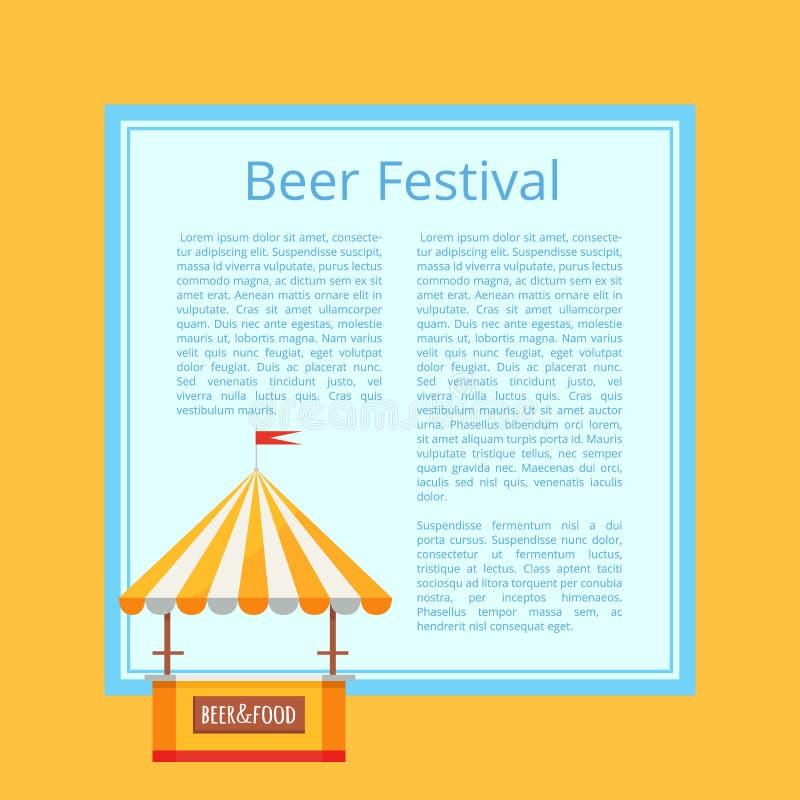 啤酒节日海报在桔子的传染媒介例证 皇族释放例证