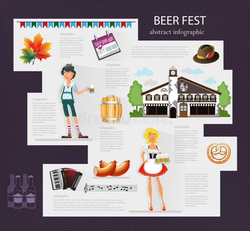啤酒节日 向量例证