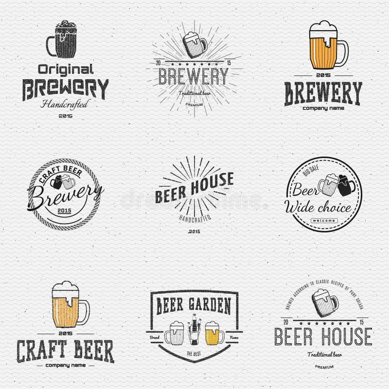 啤酒证章商标和标签其中任一的用途 库存例证