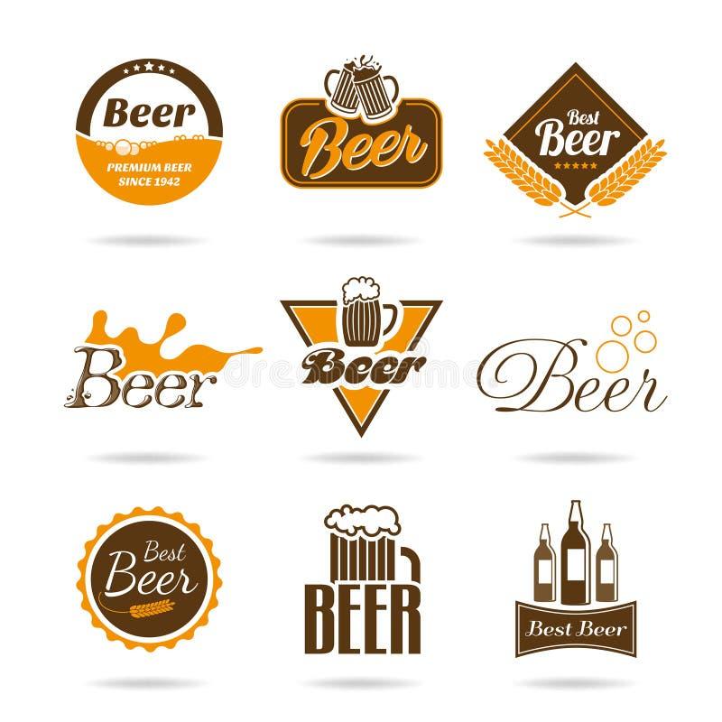 啤酒象集合 库存例证