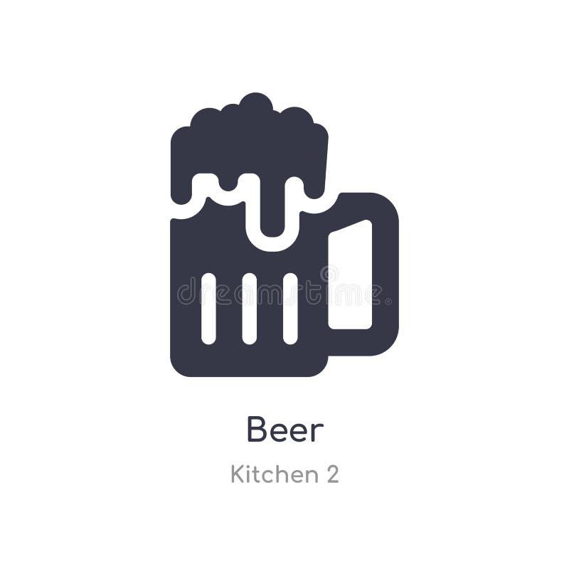 啤酒象 从厨房2汇集的被隔绝的啤酒象传染媒介例证 r 皇族释放例证