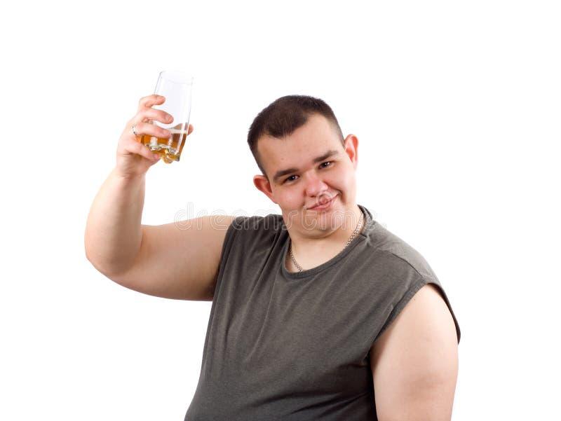 啤酒贪酒的人 免版税库存照片