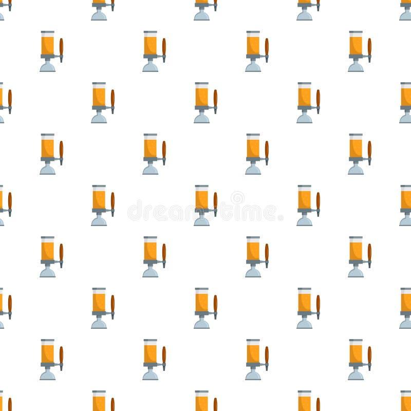 啤酒轻拍样式无缝的传染媒介 库存例证