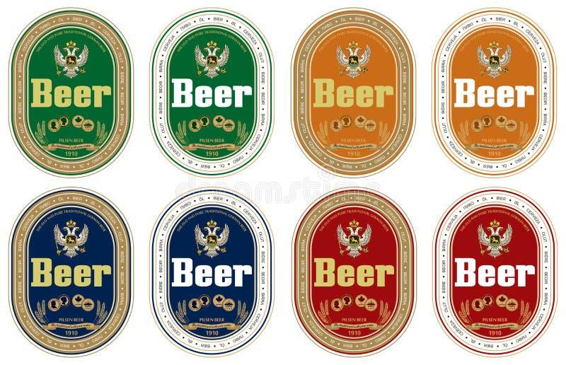 啤酒通用标签 皇族释放例证