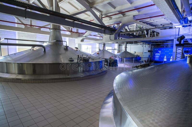 啤酒酿造厂啤酒厂在圣彼德堡 免版税库存图片
