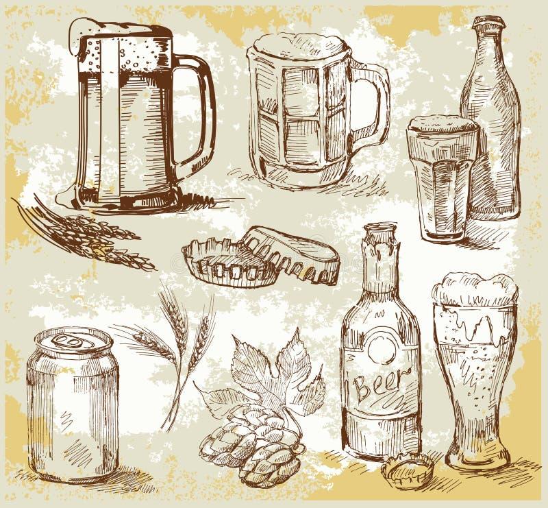 啤酒集 库存例证