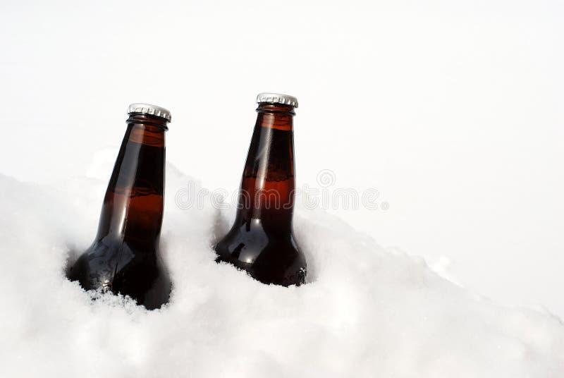 啤酒雪二 库存图片