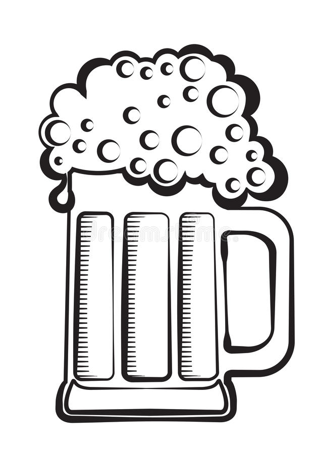 啤酒黑色图象向量 向量例证