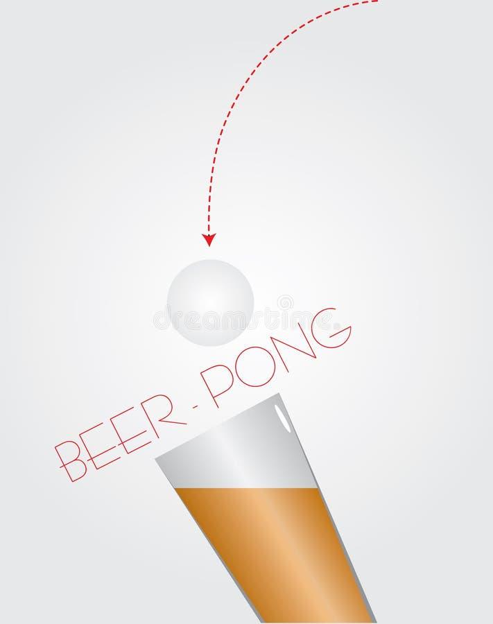 啤酒-乒乓球 皇族释放例证