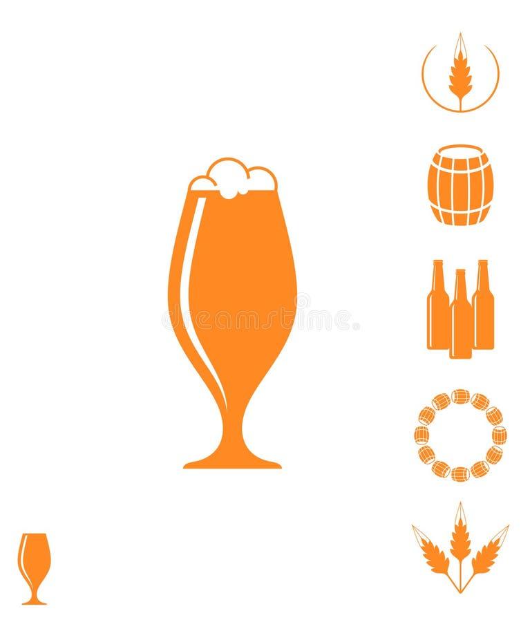 啤酒 象集合 向量例证