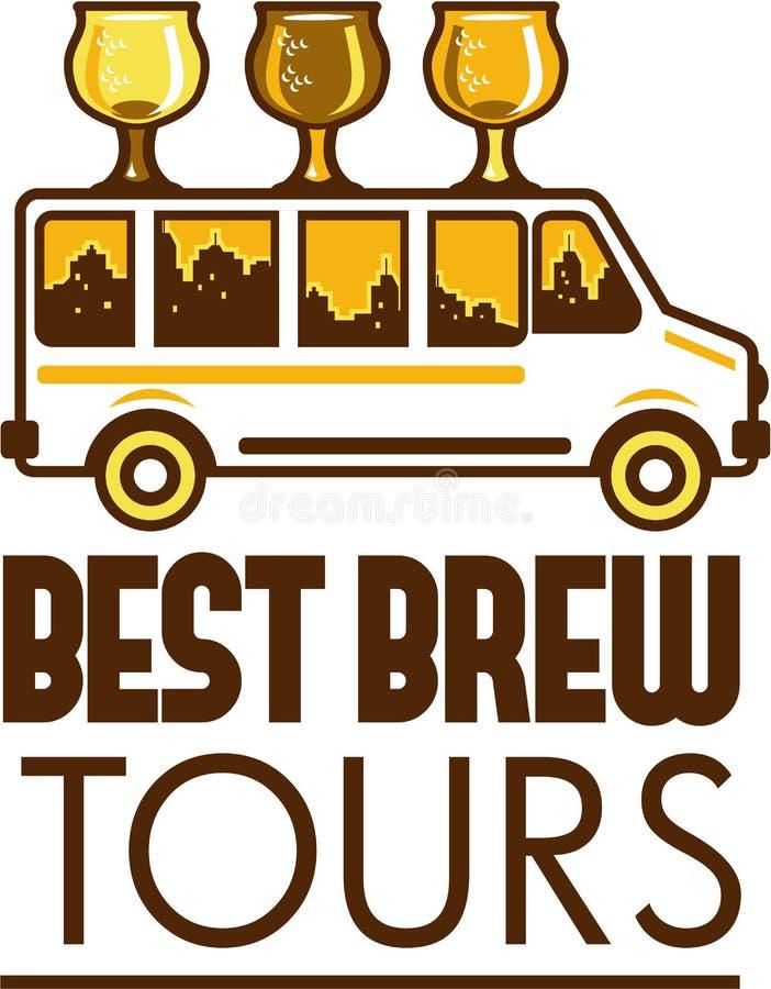 啤酒Flight Glass范Best Brew游览减速火箭 库存例证