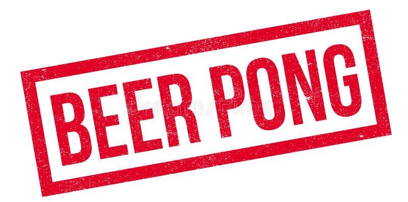 啤酒Pong不加考虑表赞同的人 库存例证