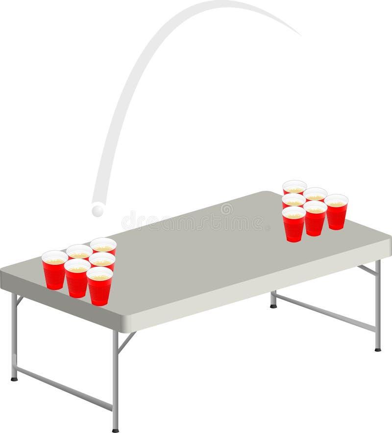 啤酒pong表 库存例证