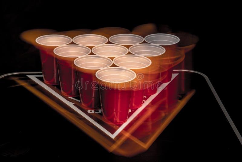 啤酒Pong 免版税库存照片