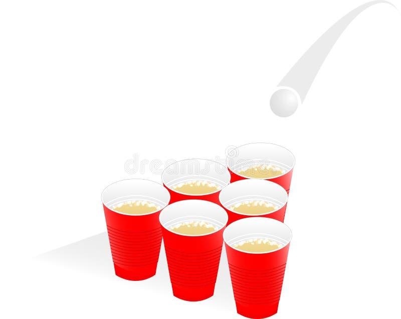 啤酒pong 皇族释放例证