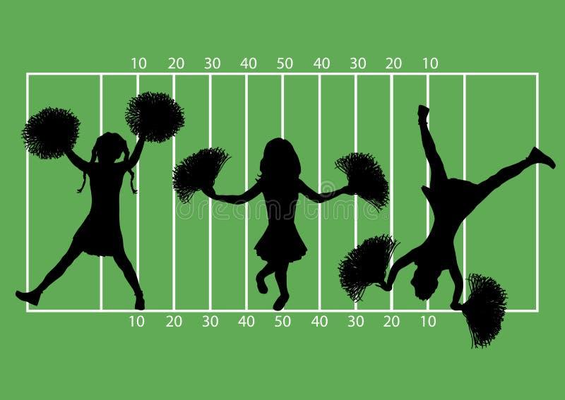 啦啦队员橄榄球5 免版税库存照片