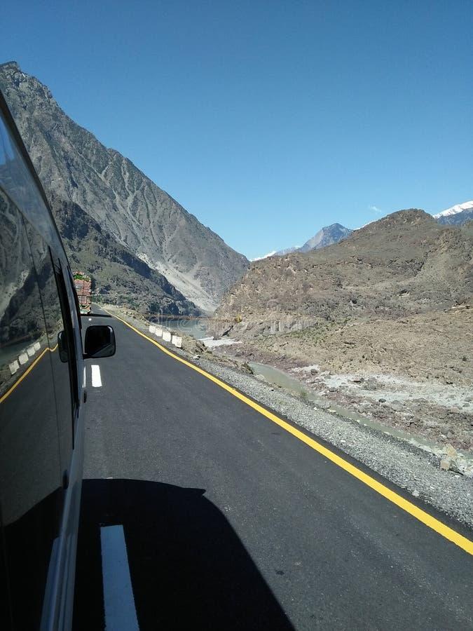 喀喇昆仑山脉高速公路,巴基斯坦 库存图片