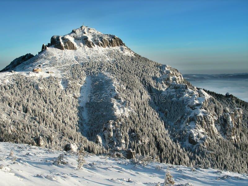 喀尔巴阡山脉的山罗马尼亚 库存照片