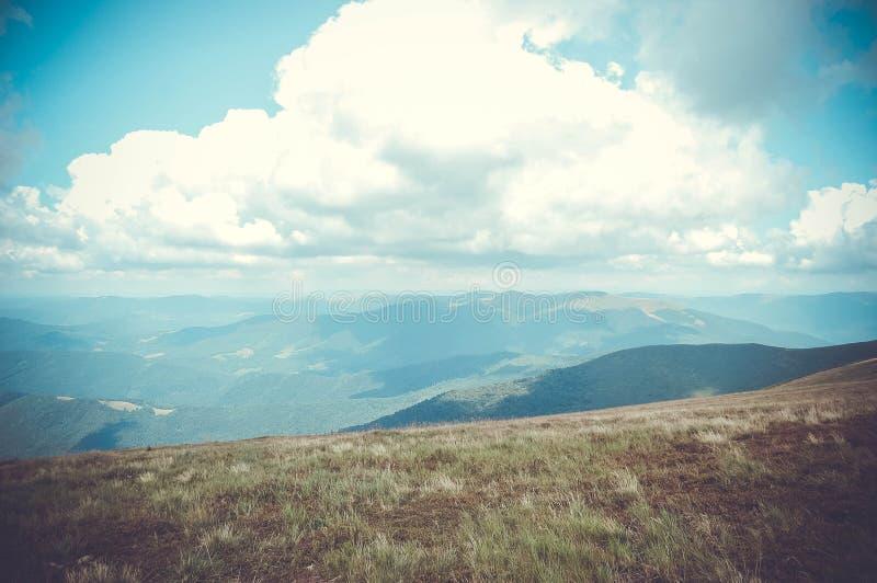喀尔巴阡山脉风景 图库摄影