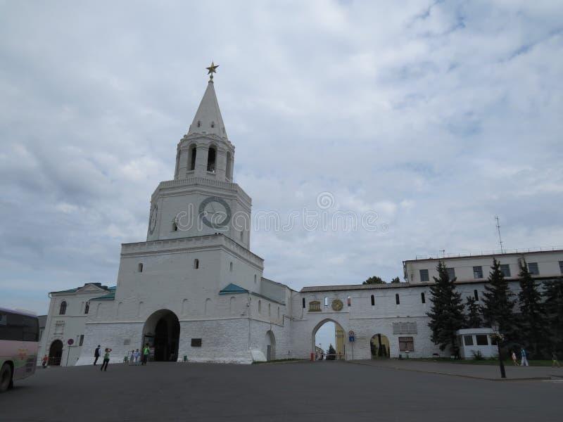 喀山克里姆林宫喀山,俄罗斯的看法 库存照片