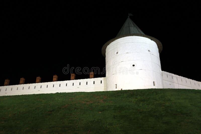 喀山克里姆林宫在晚上 库存图片